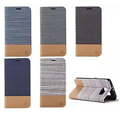 Για Samsung Galaxy Θήκη Πορτοφόλι / Θήκη καρτών / με βάση στήριξης / Ανοιγόμενη tok Πλήρης κάλυψη tok Γραμμές / Κύματα Συνθετικό δέρμα