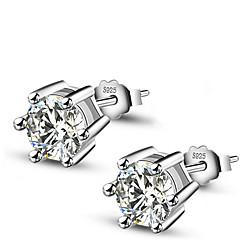 Σκουλαρίκι Κουμπωτά Σκουλαρίκια Κοσμήματα 1set Γάμου / Πάρτι / Καθημερινά Ασήμι Στερλίνας Γυναικεία Ασημί