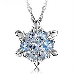 Dames Hangertjes ketting Sneeuwvlok Zirkonia Legering Kostuum juwelen Sieraden Voor Bruiloft Feest Dagelijks Causaal