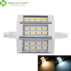8W / 10W R7S Projecteurs LED Encastrée Moderne 24 SMD 5730 800-1000 lm Blanc Chaud / Blanc Froid Gradable AC 85-265 V 1 pièce