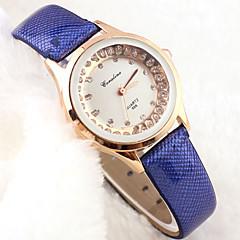 Women's Fashion Style Diamond  Leather Band Quartz Analog Wrist Watch Cool Watches Unique Watches