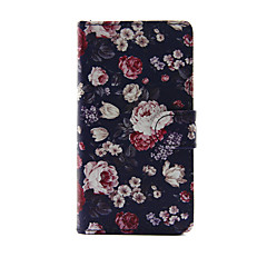 For Apple iPhone 7 7 Plus iPhone 6s 6 Plus iPhone SE 5s 5 Case Cover The Flowers Pattern PU Leather Cases