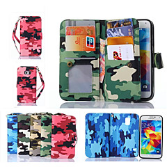 Mert Samsung Galaxy tok Pénztárca / Kártyatartó / Állvánnyal / Flip Case Teljes védelem Case Álcázás Műbőr SamsungS6 edge plus / S6 edge