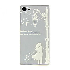 Varten Sony  kotelo Läpinäkyvä Etui Takakuori Etui Kaupunkinäkymä Pehmeä TPU varten Sony Sony Xperia Z5 Compact