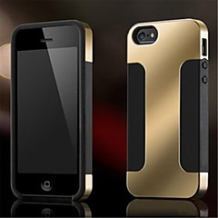 """Toophone® JOYLAND """" I """" Shaped Frosted Metal Surface Silicone Back Case for iPhone 5/5S (Assorted Color)"""