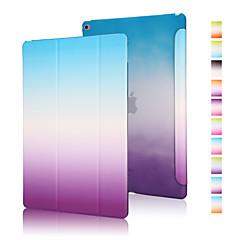 god kvalitet pu læder regnbue gradient hylster til iPad luft