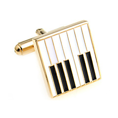 Piano keys piano keys French shirt cufflinks cuff nail Christmas Gifts
