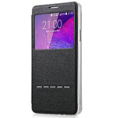 Voor Samsung Galaxy Note7 met standaard / met venster hoesje Volledige behuizing hoesje Effen kleur PU-leer SamsungNote 7 / Note 5 / Note