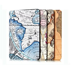 12.3 Inch Triple Folding Map Pattern High Quality PU Leather for Microsoft Surface Pro 4(Assorted Colors)