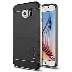 spezielle Design Silikon rückseitige Abdeckung des Metall für Samsung-Galaxie s6 (farblich sortiert)