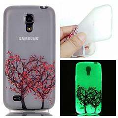 Mert Samsung Galaxy tok Foszforeszkáló Case Hátlap Case Fa TPU Samsung S6 edge plus / S6 / S5 / S4 Mini / S3