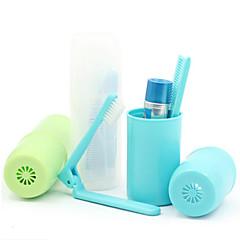 "Travel Toothbrush Container/ProtectorForToiletries Plastic 4.8""*1.6""*1.6""(12.3cm*4cm*4cm)"