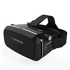 VRボックスshineconバーチャルリアリティ3Dメガネは2.0 VRヘッドセット(黒色)をダンボール