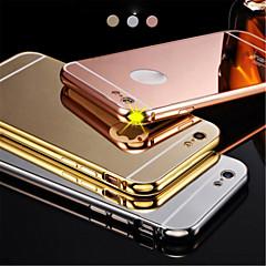 νέο πολυτελές επιχρυσωμένο μεταλλικό σκελετό αλουμινίου + καθρέφτη ακρυλικό πίσω κάλυμμα κέλυφος υπόθεση για iphone6plus 5.5inch