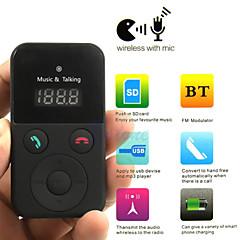 마이크와 자동차 키트 핸즈프리 블루투스 무선 FM 송신기의 USB SD 액정 원격 MP3