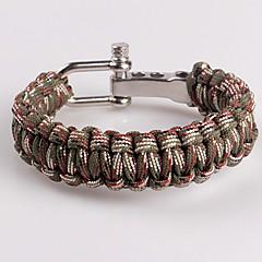 Eruner®Stainless Steel Adjustable Connection Buckle Outdoor Survival Bracelet