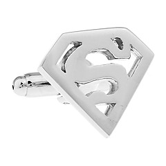 Super-man S logo triangular hollow French shirt cufflinks cuff nail