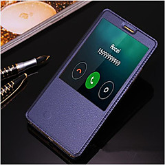 Mert Huawei tok / Mate 8 Állvánnyal / Betekintő ablakkal / Automatikus készenlét/ébresztés / Flip Case Teljes védelem Case Egyszínű Kemény