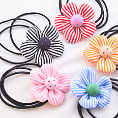 Candy Girl Fabric Flower Hair Ties Hair Jewelry(Random)