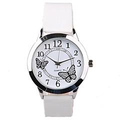 Mujer Reloj de Vestir Reloj de Moda Cuarzo Resistente al Agua La imitación de diamante PU Banda Destello Mariposa Blanco Blanco