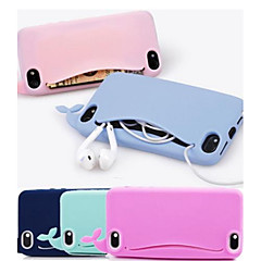 cassa molle lovly balena in silicone per iPhone 5 / 5s (colori assortiti)