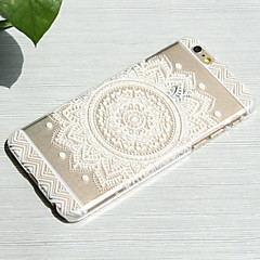 White Sunflower Style Transparent PC Hard Back Cover for iPhone 6/6S 4.7""