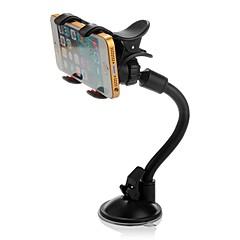 ziqiao 360 ° draaibare auto voorruit voorruit mount houder dubbele clip voor telefoon gps