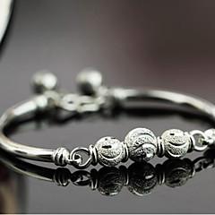 Naisten Amuletti-rannekorut Rannerenkaat Sterling-hopea Hopea Korut Varten Häät Party Päivittäin Kausaliteetti Joululahjat 1kpl