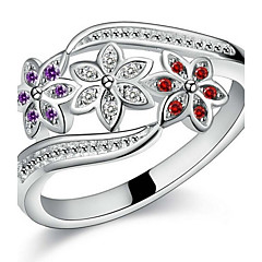Pure Women's 925 Silver-Plated High Quality Handwork Elegant Ring