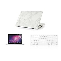"""3 i en mode marmor täcker fallet + tangentbord lock + skärmskydd för MacBook Air 11 """"retina 13"""" / 15 """""""