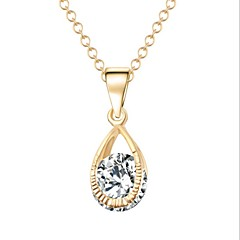 Designer Jewelry Alloy Zircon Pendant Necklace Elegant