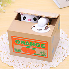 Orange Cat Electric Coin BankMoney Saving Box/Toy(2xAA)