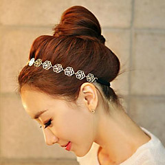 Women Fashion Elegant Hollow Roses Flower Pattern Hair Bands Hair Accessories 1pc