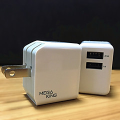 Taiwan MEGAKING Folding Large Squares Brigade With Apple AnZhuoChong Double USB Phone Charger Adapter