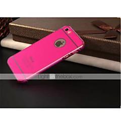 cubierta especialmente diseñada curva metálica posterior para 5s iphone (colores surtidos)
