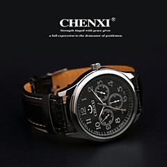 CHENXI® Αντρικά Ρολόι Καρπού Χαλαζίας Γιαπωνέζικο Quartz Δέρμα Μπάντα Μαύρο