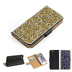 Luxury Bling Crystal & Diamond Leather Flip Bag For iPhone 6/iPhone 6S(Assorted Color)