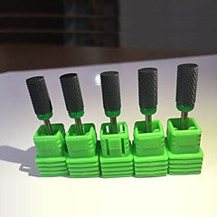 1 PCS High Quality Medium Cylindrical Black Ceramic Drill Bits Electric Manicure Cutter Nail Files