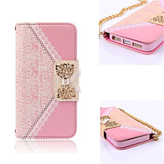 Elegant Design Cute Flip Wallet Leather Case for iPhone 4/4S (Assorted Colors)