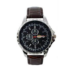 Herren-Leder-große Zifferblatt Quarzuhr vorliegenden Uhren Geschenk wasserdicht