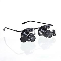 новые очки камера 20x лупа увеличительное стекло лупа очки типа светодиодные часы ремонтируется