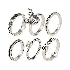 Crystal / Alloy / Resin Ring Midi Rings Wedding / Party / Daily / Casual 1set