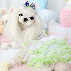 Σκυλιά Φορέματα Μπλε Λευκό Ροζ Ρούχα για σκύλους Καλοκαίρι Άνοιξη/Χειμώνας Κεντητό Μοντέρνα