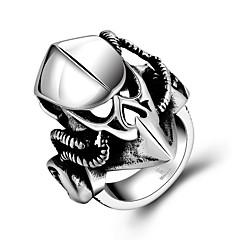 Art und Weise großzügig ohne dekorative Einbrennlack Helm Stein Männer Edelstahlring (schwarz) (1pc)