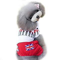 Pies Kombinezon Ubrania dla psów Modny Flagi W stylu brytyjskim Czerwony
