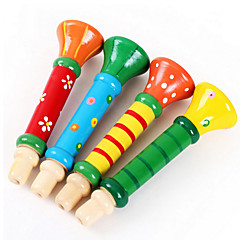 Wood Colorful Trumpet Loudspeaker Toys Musical Instruments Music Toys for Kids