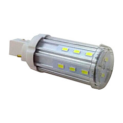LEDUN  1PCS G24 6W 20 SMD 5730 100LM LM Warm White / Natural White T Decorative Corn Bulbs AC85-265V
