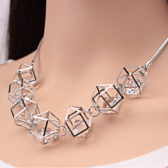 Women's Choker Necklaces Statement Necklaces Crystal Rhinestone Simulated Diamond Alloy Fashion Luxury Jewelry Black Silver Golden Jewelry