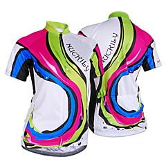NUCKILY® Maglia da ciclismo Per donna Maniche corte BiciclettaTraspirante / Resistente ai raggi UV / Permeabile all'umidità / Sacca