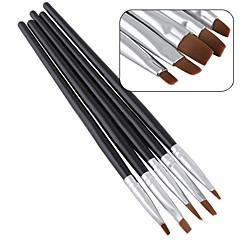 5stk / satt ny skjønnhet negl kunst salon akryl uv gel salon penn flat pensel kit punktere verktøy for dekorasjoner